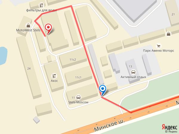 Карта проезда Одинцово