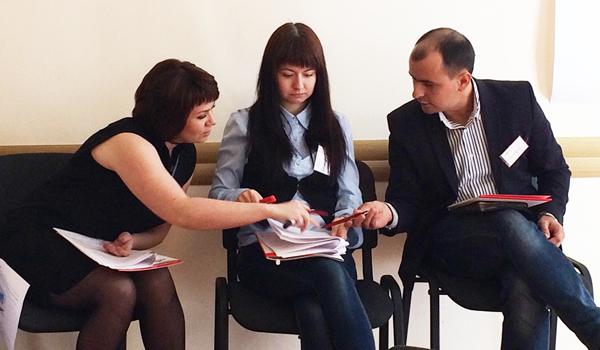 Сотрудники трех разных компаний партнеров и клиентов БРУСБОКС